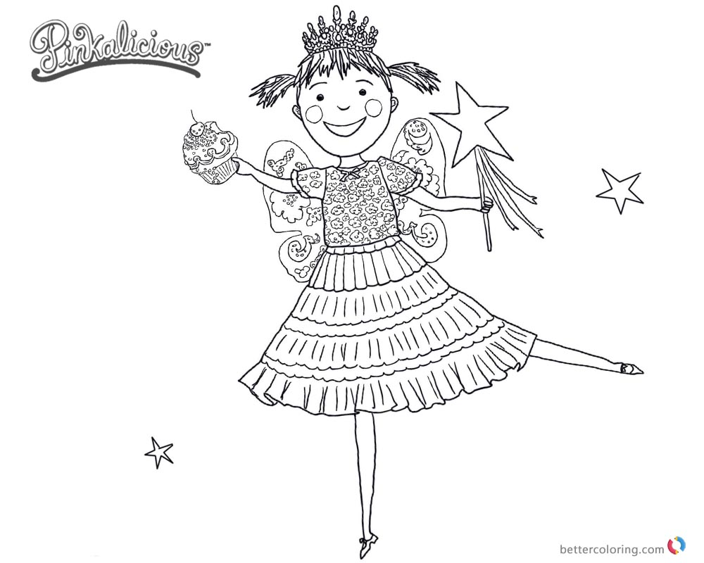 1000x800 Pinkalicious Coloring Pages Dancing Drawing