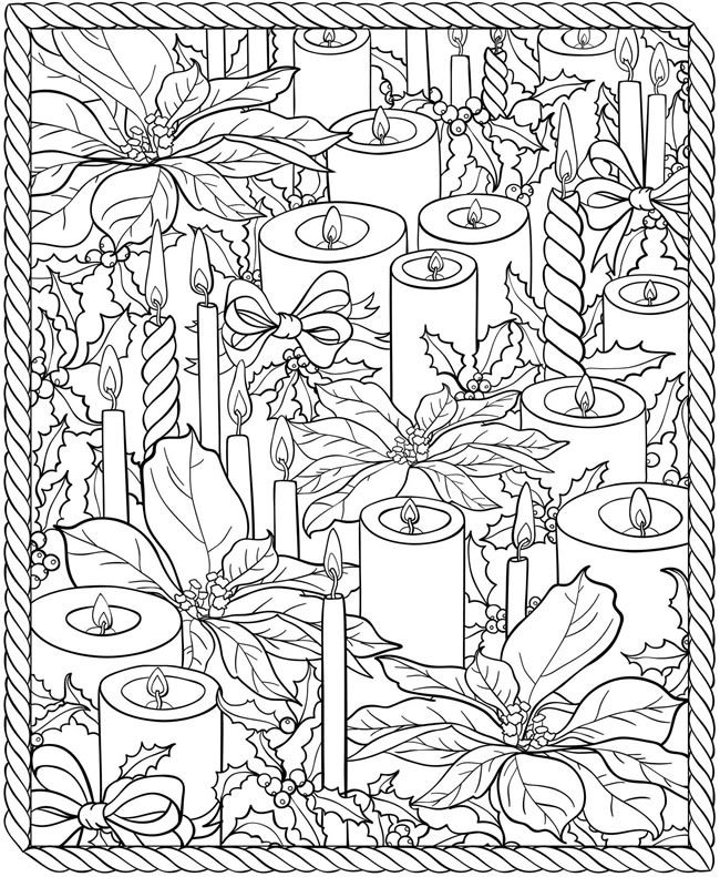 650x791 Christmas Adult Coloring Pages