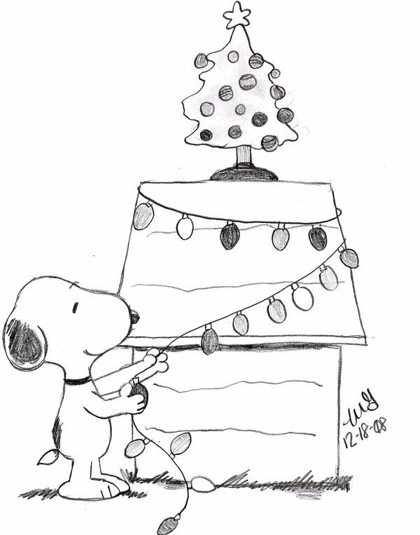 600x763 Snoopy Coloring Pages For Christmas