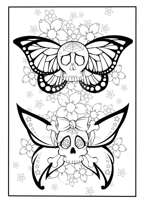 600x849 Add Ink Coloring Pages Best Skull Coloring Dia De Los Muertos