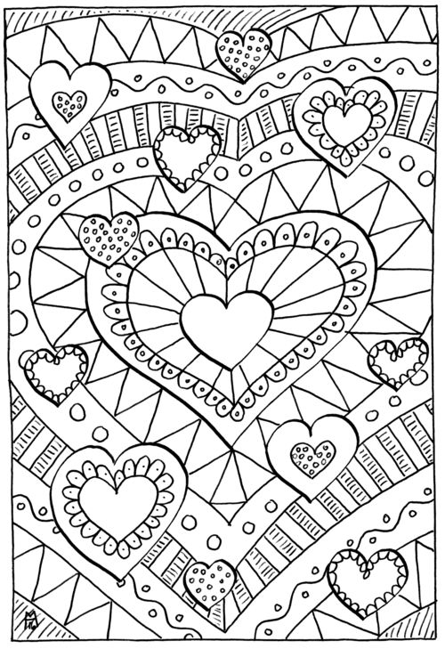 500x729 Color Sheets Best Love Coloring Pages Ideas On Heart