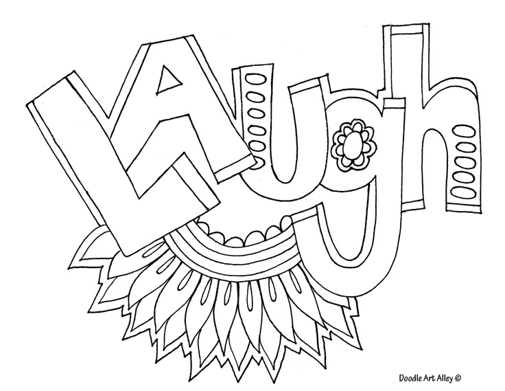 736x569 Coloring Pages With Words Laugh Adult Coloring Pages Coloring