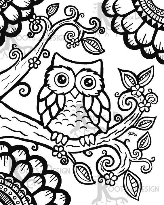 570x713 Printable Owl Coloring Pages For Adults Coloring Art Best Owl