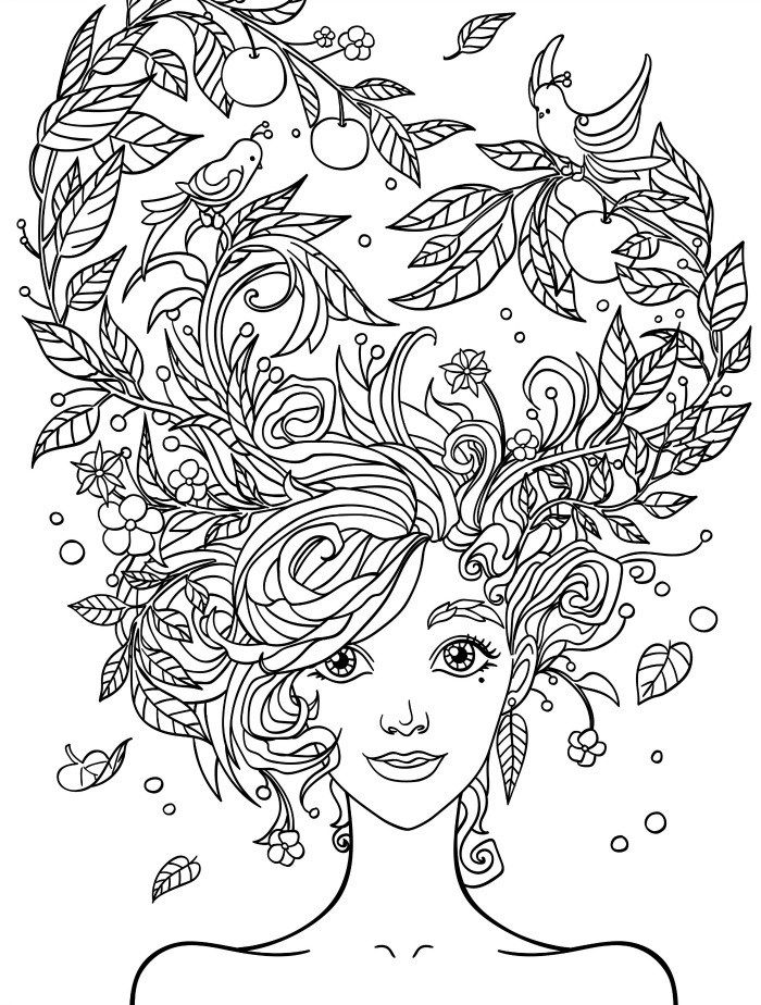 700x924 Pretty Coloring Pages For Adults Free Printable Coloring Pages