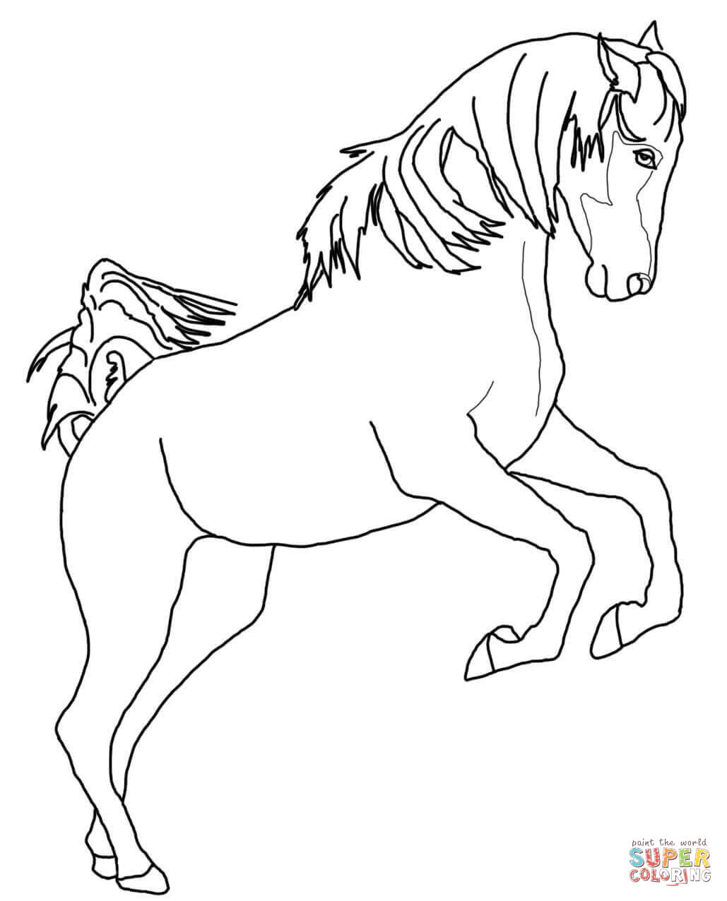1029x1276 Paint Horse Coloring Pages