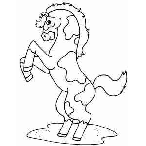 300x300 Pinto Horse Coloring Page