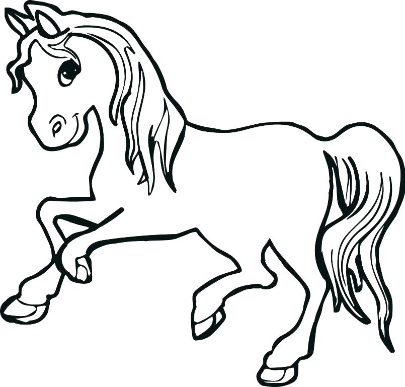 805x769 Realistic Horse Coloring Pages Horses Coloring Page Mustang Horse