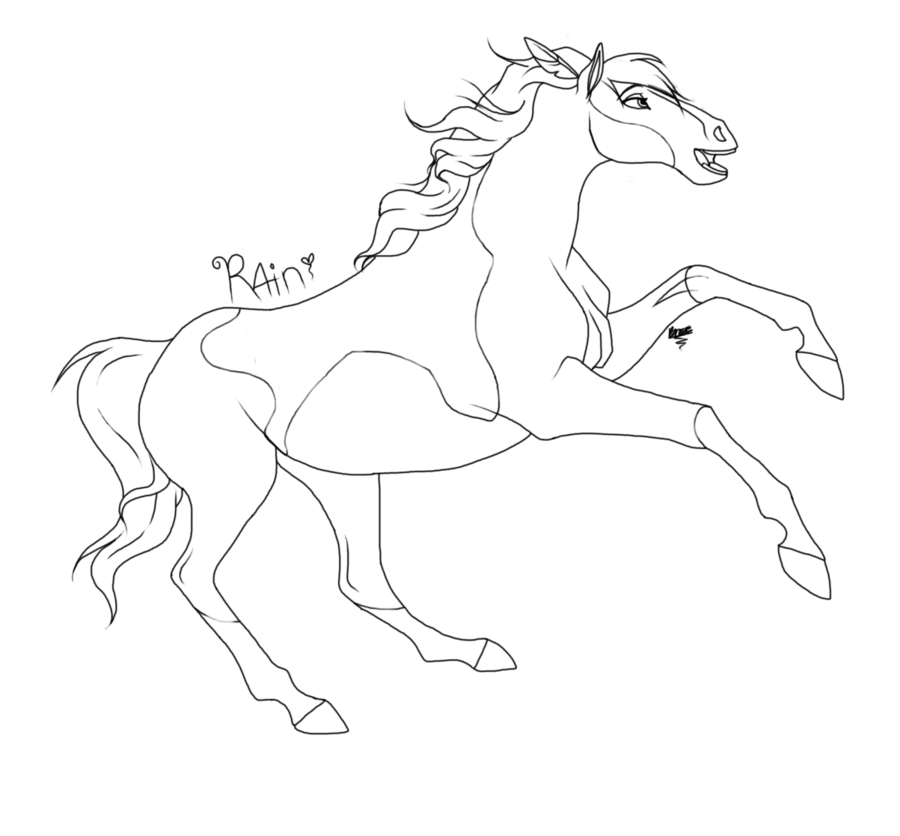 900x836 Spirit The Horse Coloring Pages