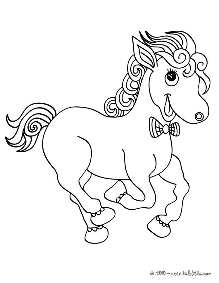 728x942 Dala Horse Coloring Page