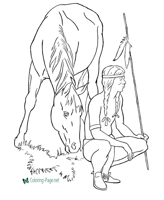 670x820 American Horse Coloring Pages