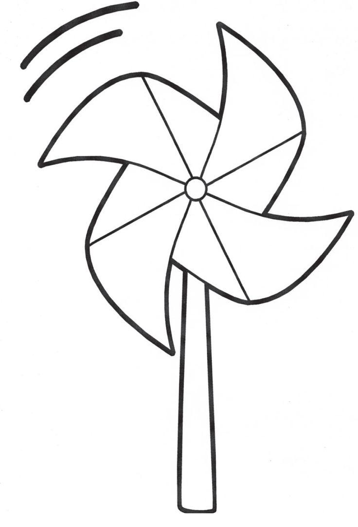 Pinwheel Coloring Page