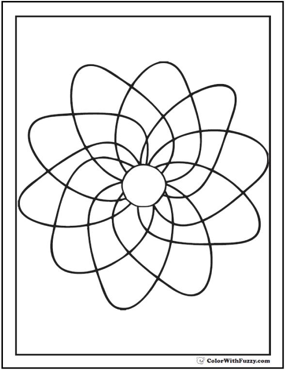 590x762 Free Printable Geometric Coloring Pages Spinning Pinwheel
