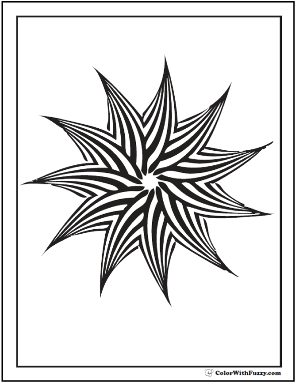 590x762 Geometric Patterns Kids Coloring Pages
