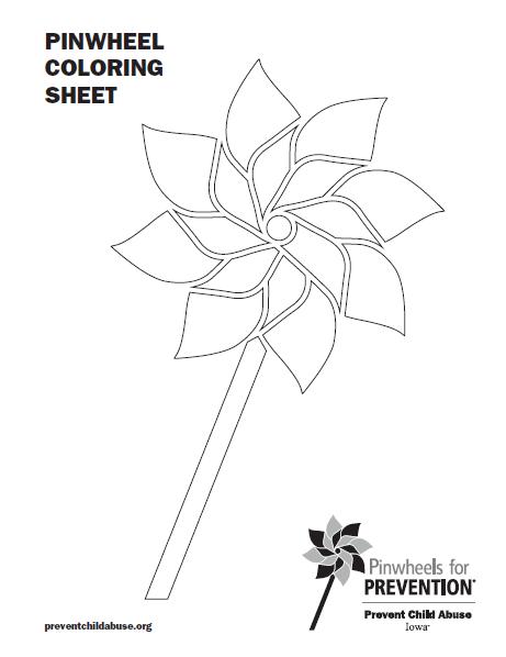 461x598 Pinwheel Coloring Sheet