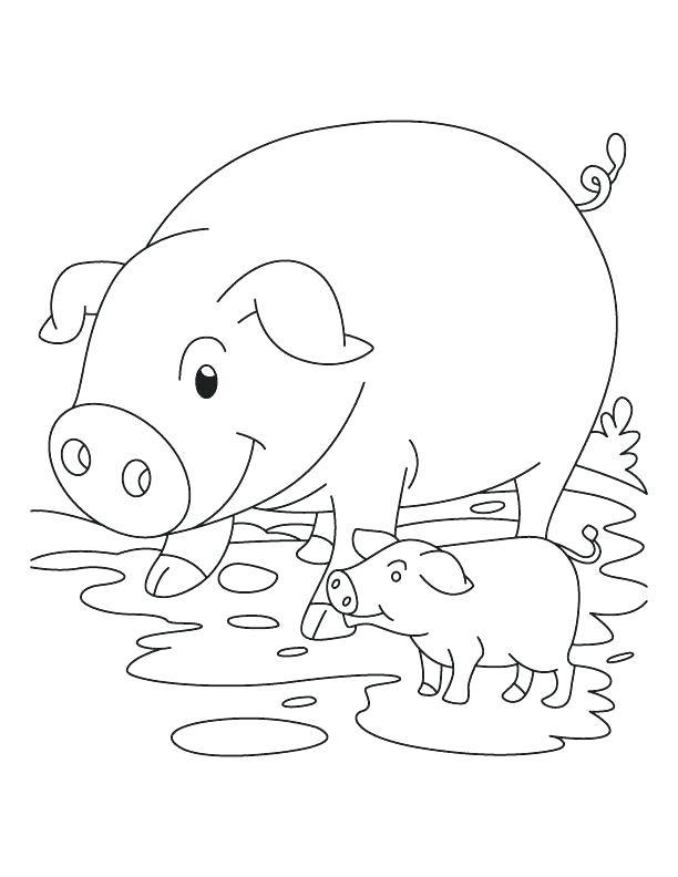 612x792 Baby Piglet Coloring Pages Piglet Coloring Page Pig And Piglet