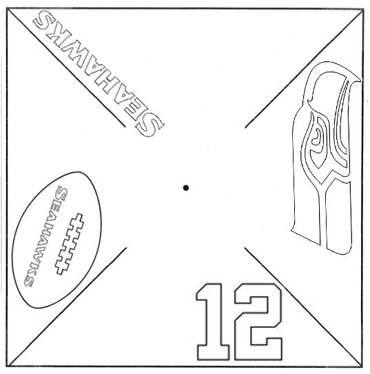 537x543 Printable Seahawks Pinwheel Template