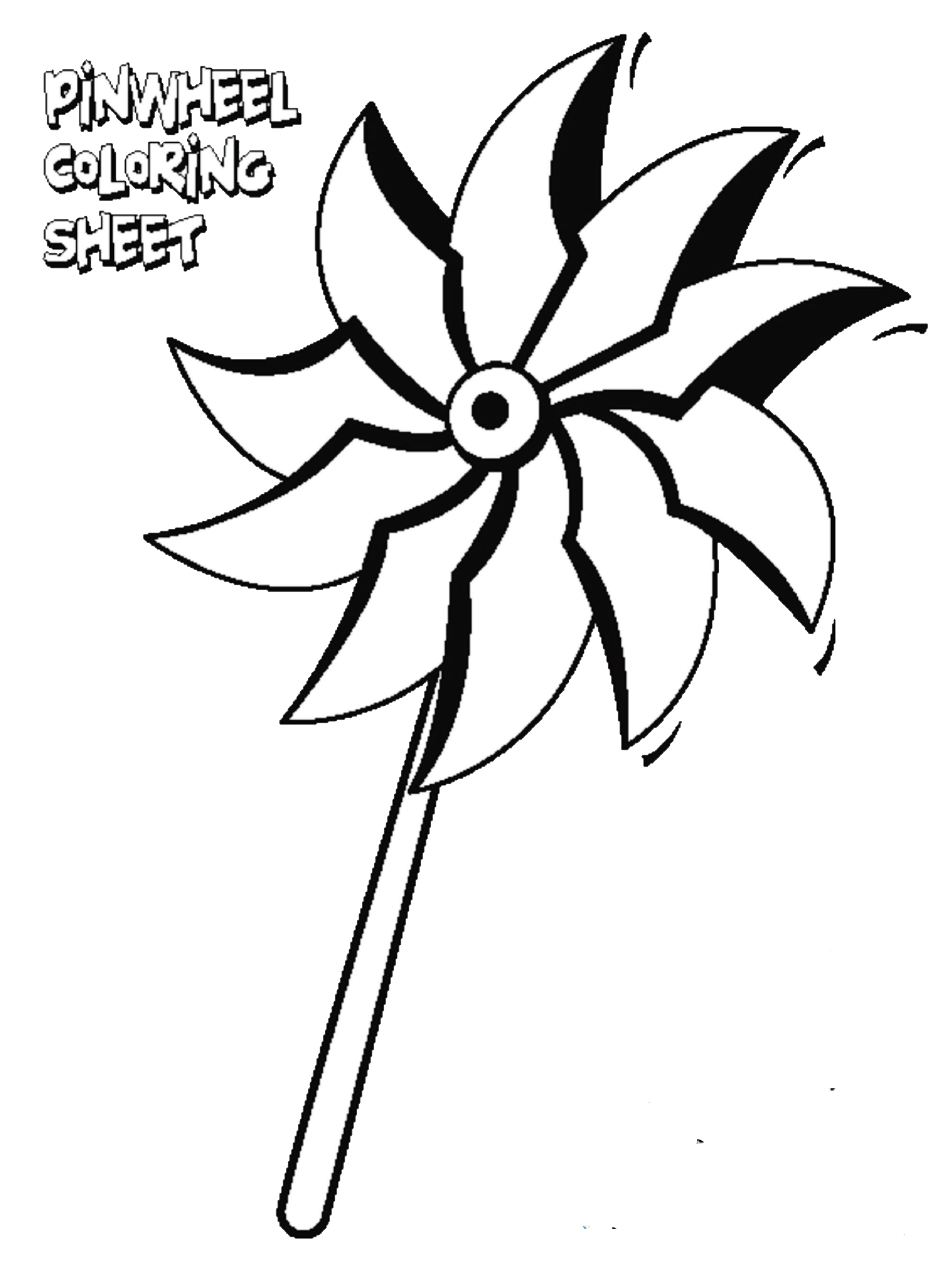 2007x2661 Color A Pinwheel With Your Child Support Prevent Child Abuse