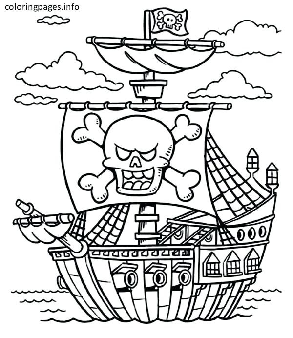 600x692 Imagination Pirate Ship Coloring Page Pages To Download And Print