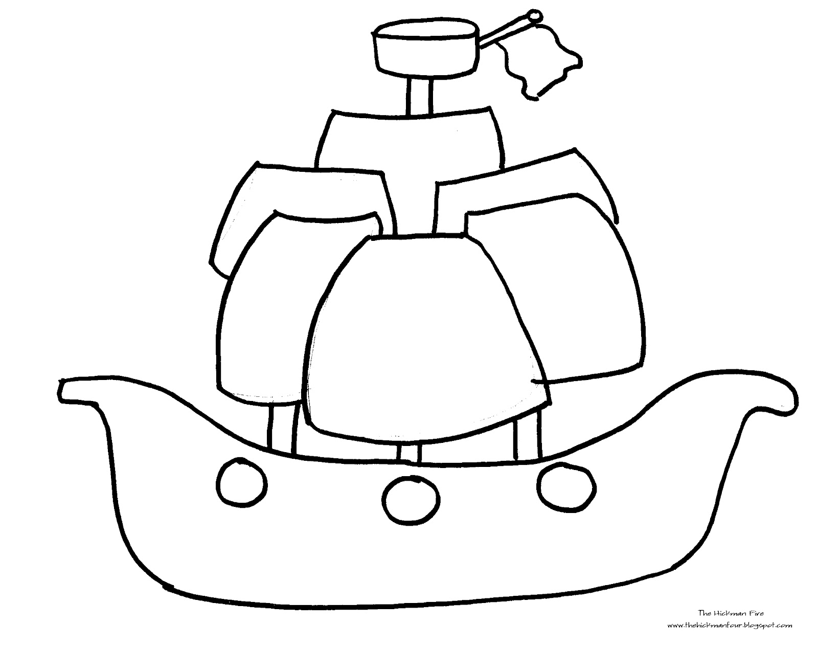 Pirate Boat Coloring Page At GetDrawings