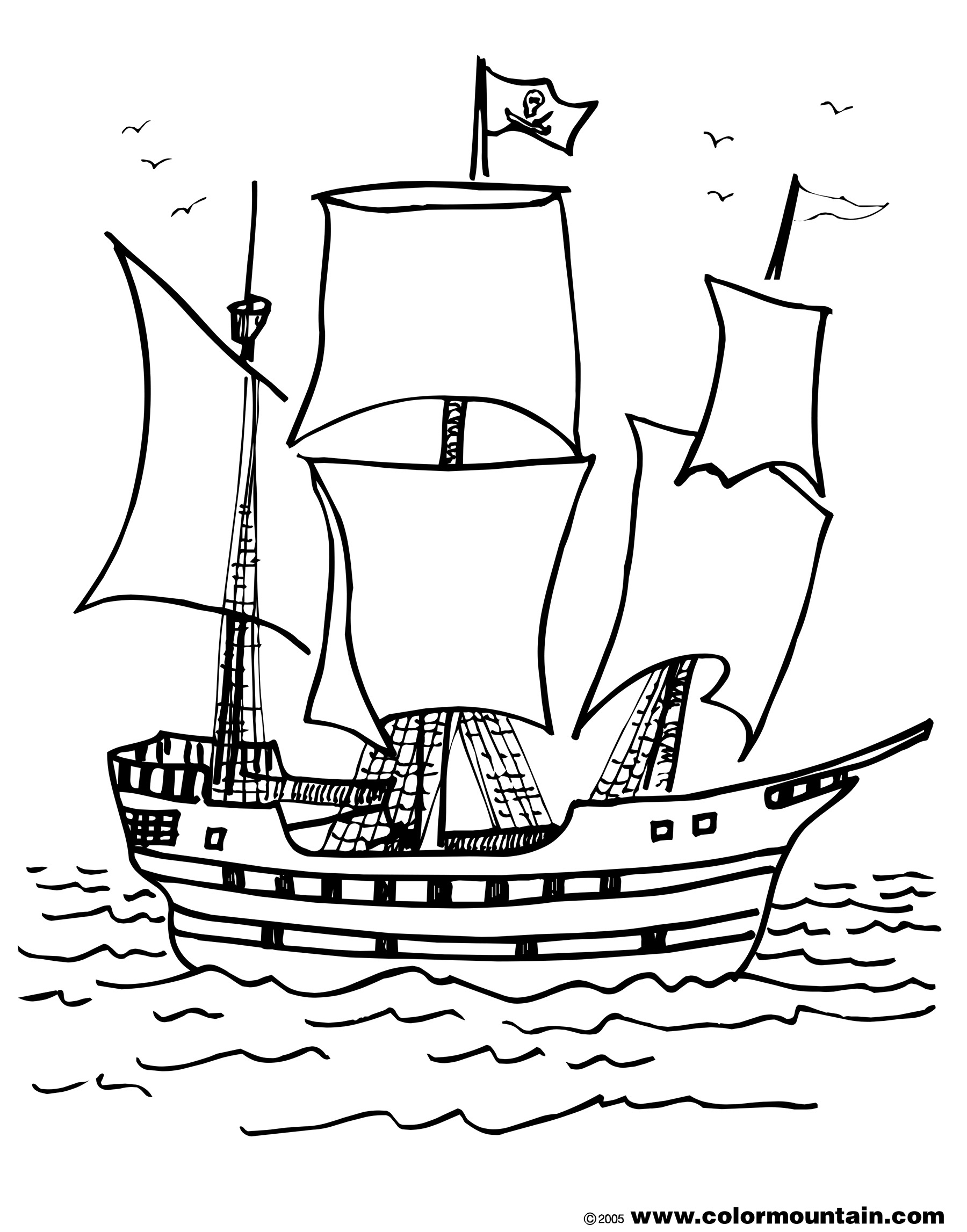 1800x2294 Pirate Ship Coloring Page Create A Printout Activity Download