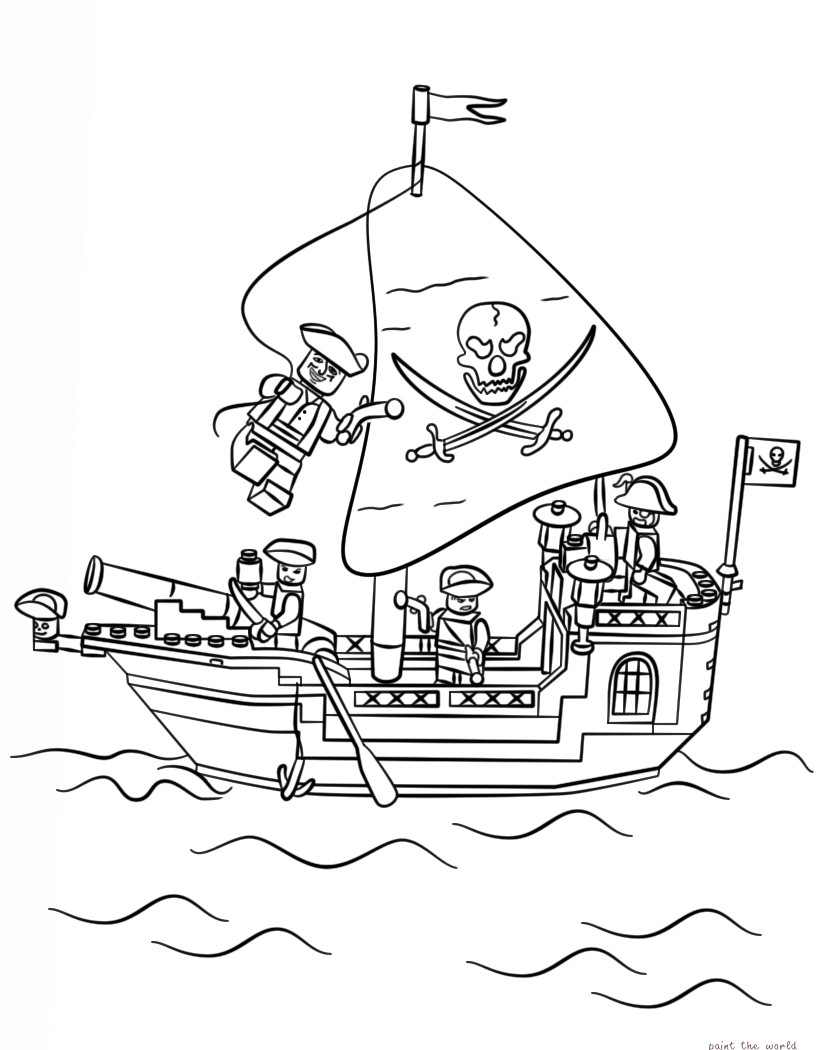 824x1050 Pirate Ship Coloring Page Fresh Pirate Free Pirates On A Boat