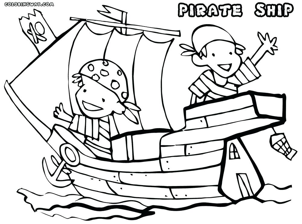 1000x743 Pirate Ship Coloring Page Pirate Coloring Pages Beautiful Pirate