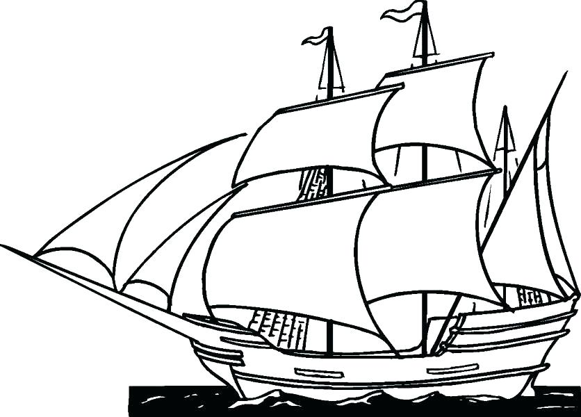 836x600 Pirate Ship Coloring Page Ships Coloring Pages To Print Preschool