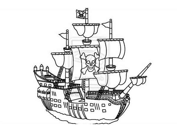 600x450 Pirate Ship Coloring Pages
