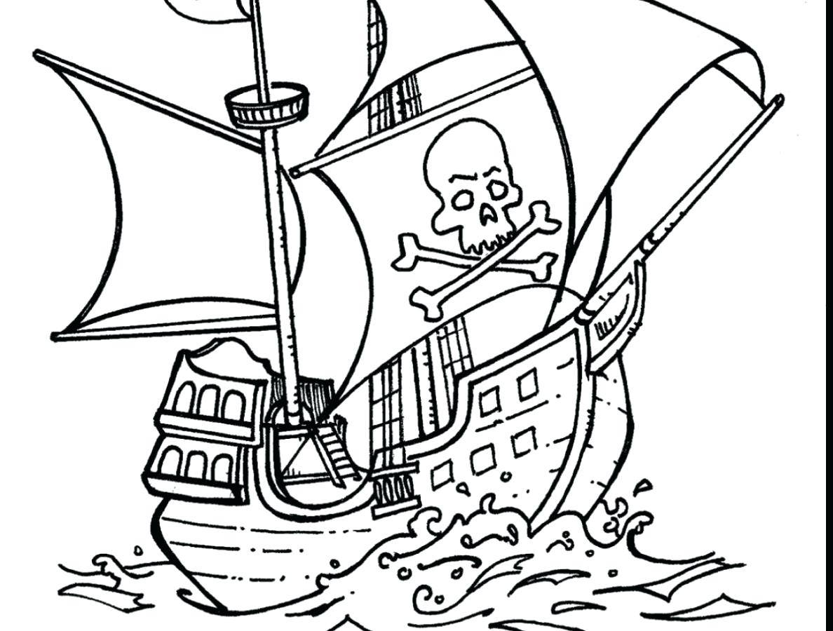 1188x900 Wonderful Sunken Pirate Ship Coloring Page Captain Hook Pages
