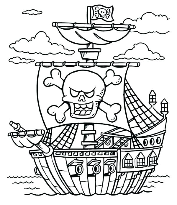 Pirate Coloring Pages For Adults At Getdrawings Com Free For