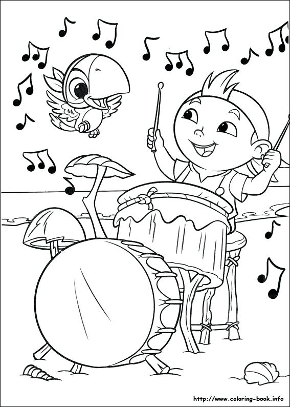 567x794 Pirate Coloring Pages Printable And The Never Land Pirates