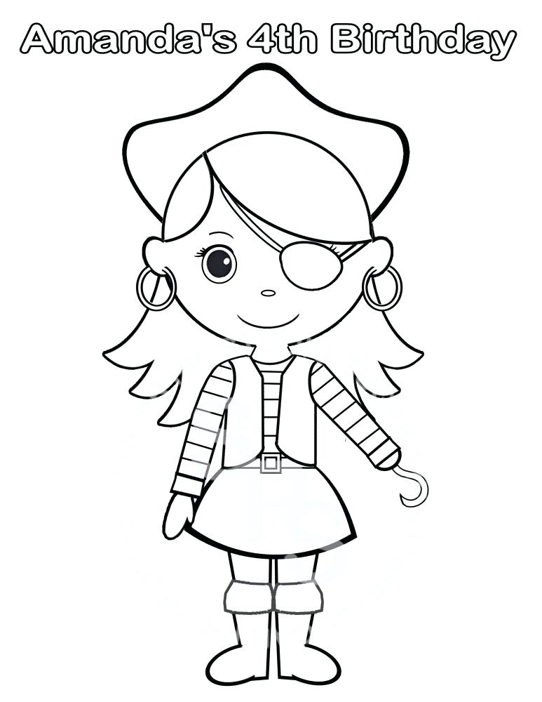 773x1000 Pirate Coloring Pictures Clever Design Pirate Princess Coloring