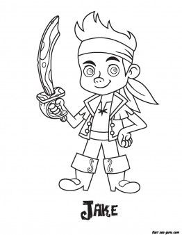 262x338 Printable Jake Pirates Coloring Pages