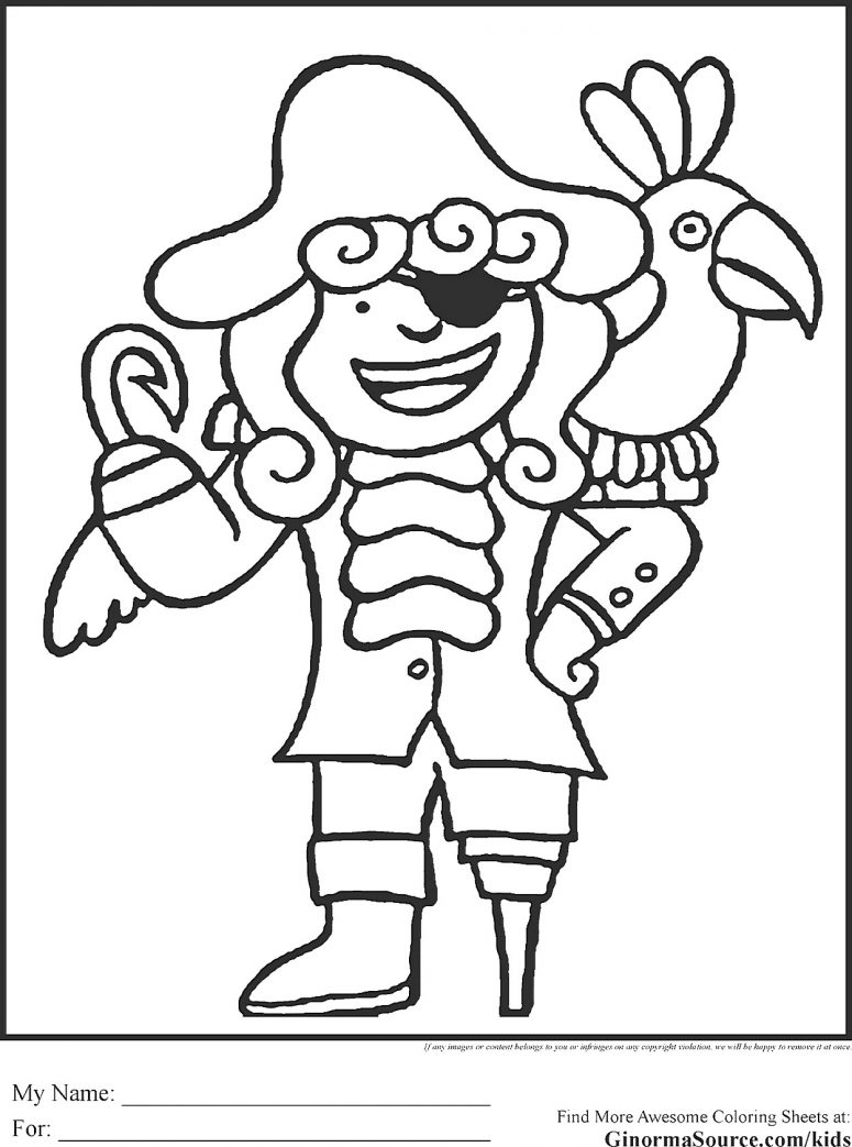 775x1043 Trend Pirate Coloring Pages In Coloring For Kids With Pirate