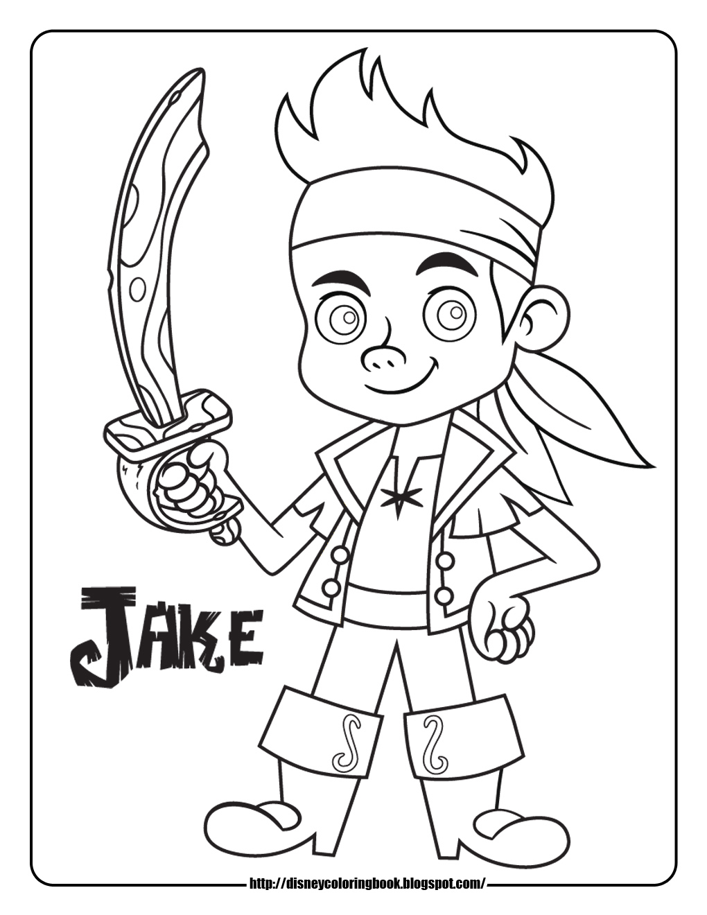 1020x1320 Jake And The Neverland Pirates Coloring Pages Disney Sheets