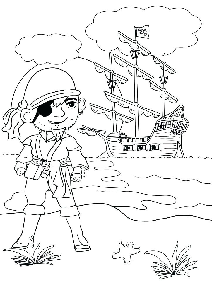 724x1024 Pirate Coloring Pages For Kids Deepart