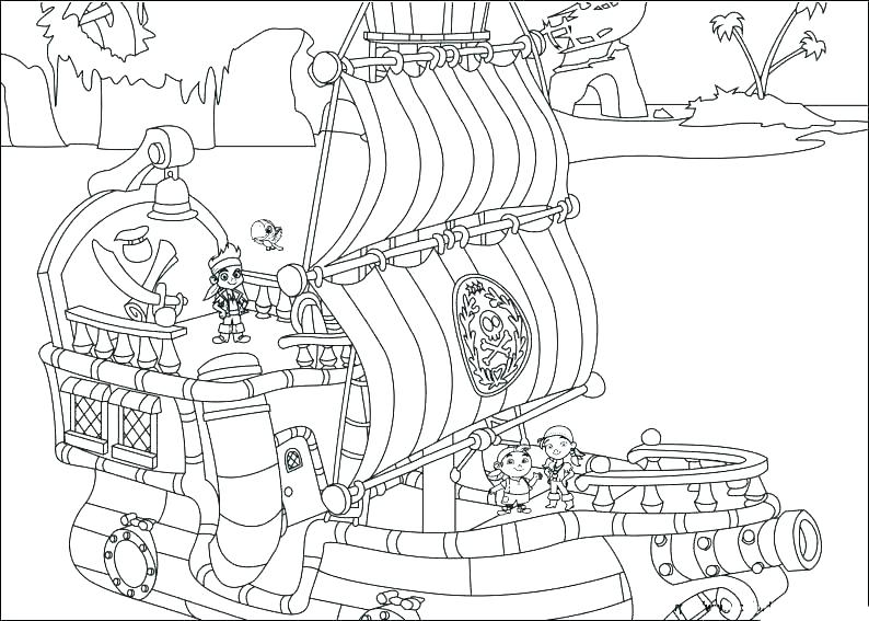 794x567 Pirate Coloring Pages For Preschool L S S S Pirate Colouring Pages