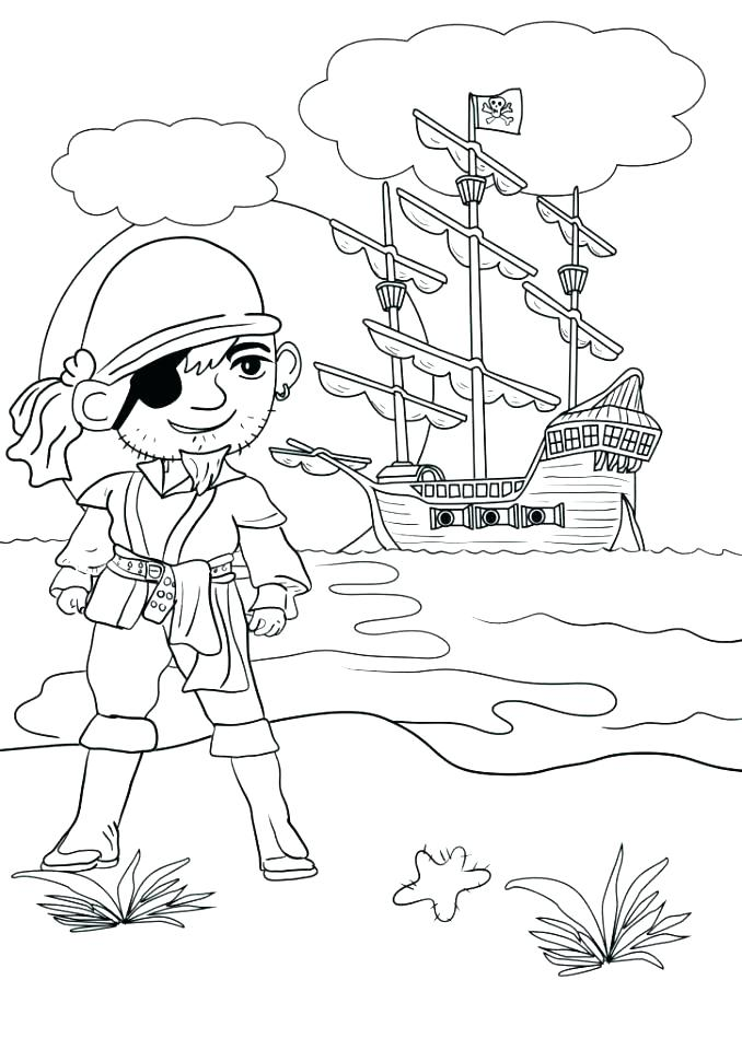 678x960 Pirate Coloring Sheets For Preschoolers Pages Preschool Beautiful