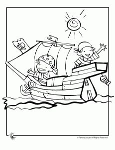 231x300 Pirate Coloring Pages Its Time To Plan A Party