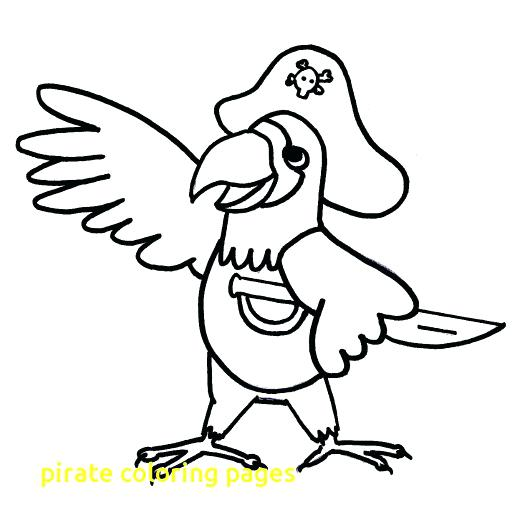 520x530 Pirate Coloring Pages