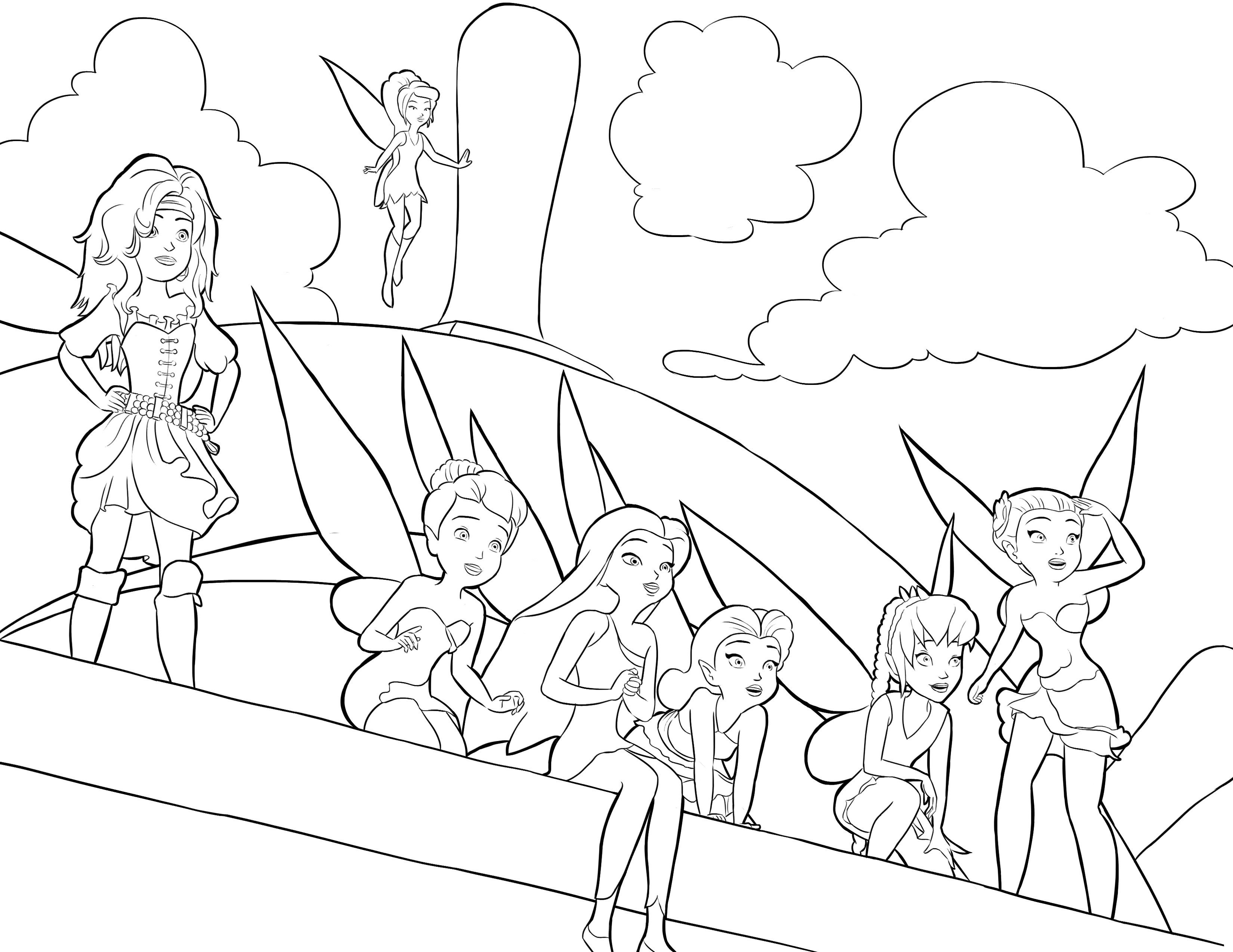 3300x2550 Inspiration Pirate Fairy Coloring Pages B S Going To Love These