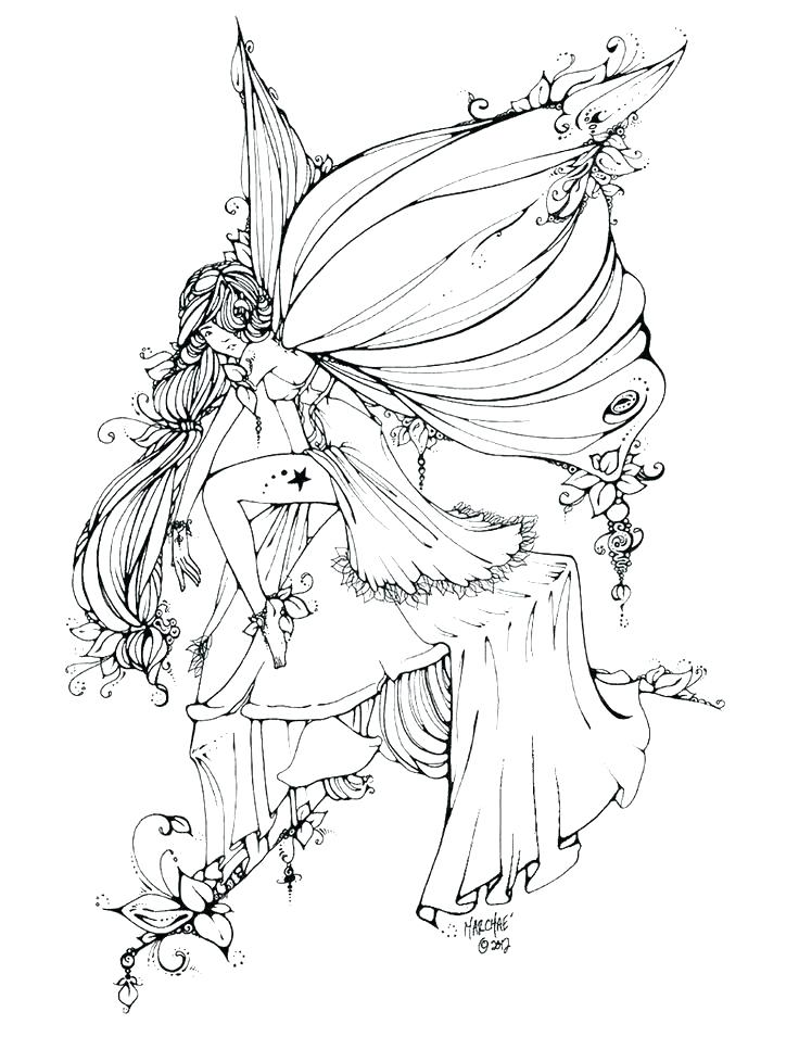 736x955 Beautiful Coloring Pages Of Fairies For Fairy Colouring Page Free