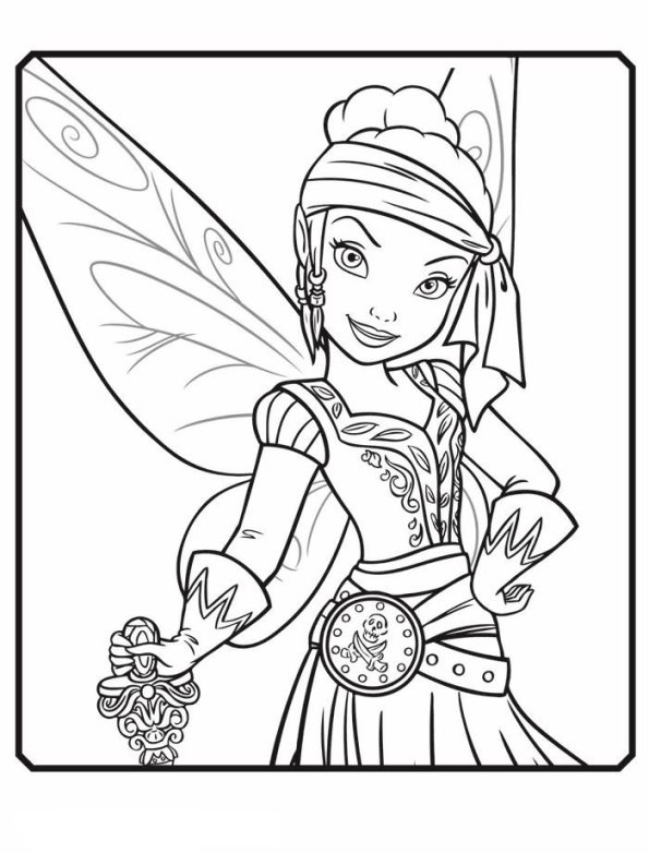 595x782 Pirate Fairy Coloring Pages