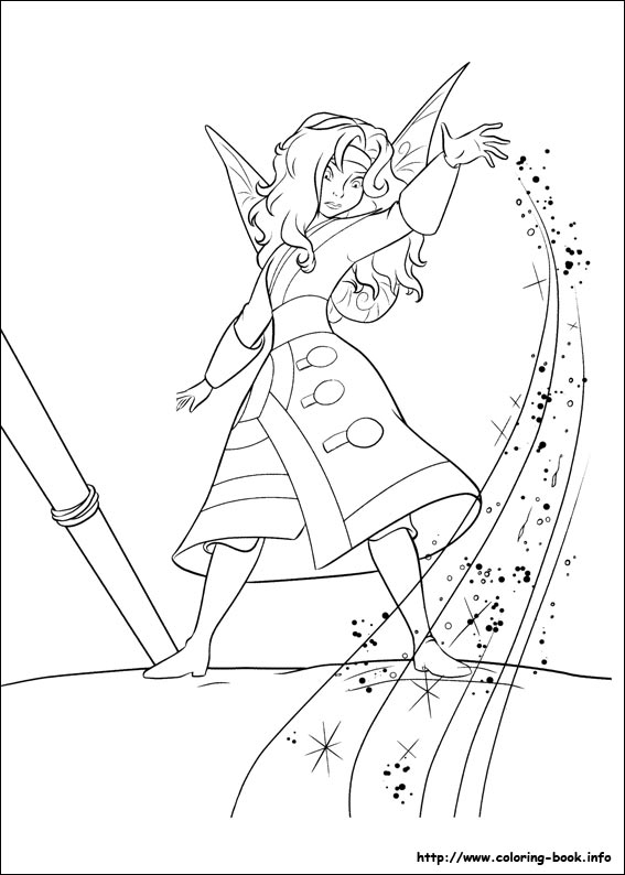 567x794 The Pirate Fairy Coloring Picture