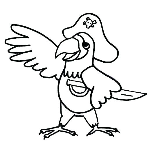 520x530 Parrot Coloring Pages Download Pirate Parrot Parrot Coloring Pages