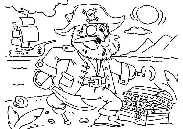 600x425 Pirate Coloring Page Printable Pirate Coloring Pages Pirate