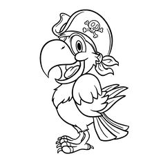 236x236 Free Parrot Bird Animal Coloring Pages Pirate Mermaid Party