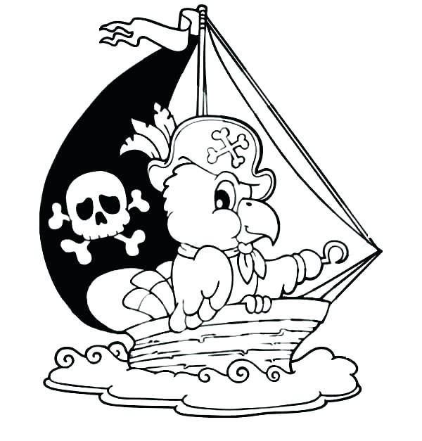 600x627 Pirate Ship Coloring Page Pirate Ship Coloring Sheet Captain Hook