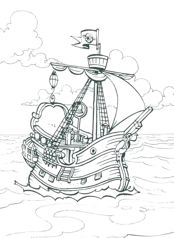 600x821 Pirate Ship Coloring Pages Pirate Ship Coloring Pages Pirate Ship