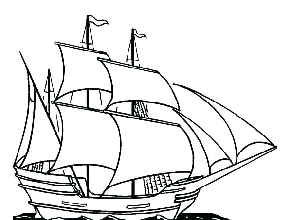 600x453 Pirate Ship Coloring Pages Ship Coloring Pages Pirate Ship